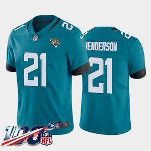 Jacksonville Jaguars C.J. Henderson Teal Jersey